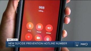 New suicide prevention hotline number