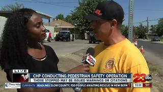 CHP conducting pedestrian safety operation