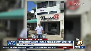 Solana Beach restaurant owner helping feed industry workers
