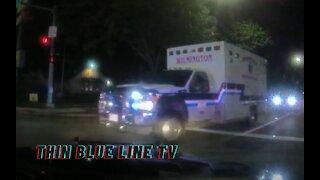 DASHCAM: Stolen Ambulance Pursuit Ends In Collision In Joliet Illinois