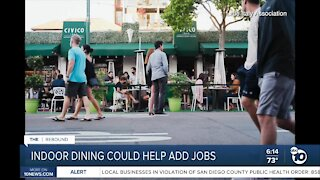 Increased restaurant capacity could spur some hiring