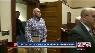 Testimony focused on Keadle statements
