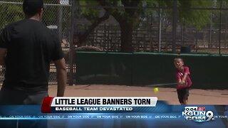 Sabino Canyon little league baseball team banners torn up