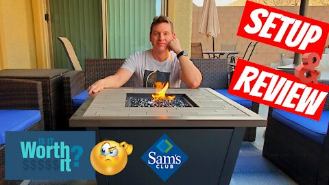 """Members Mark 30"""" Gas Fire Table - 980207456 - Outdoor Fire Pits 2021"""