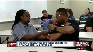 Omaha school resource officers learning combat trauma first aid