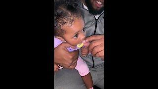 Toddler Adorably Can't Get Enough of Tasty Lemon