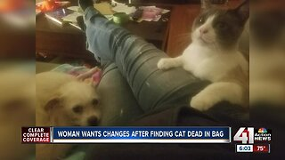 Woman wants KCMO policy changed after dead pet left in yard
