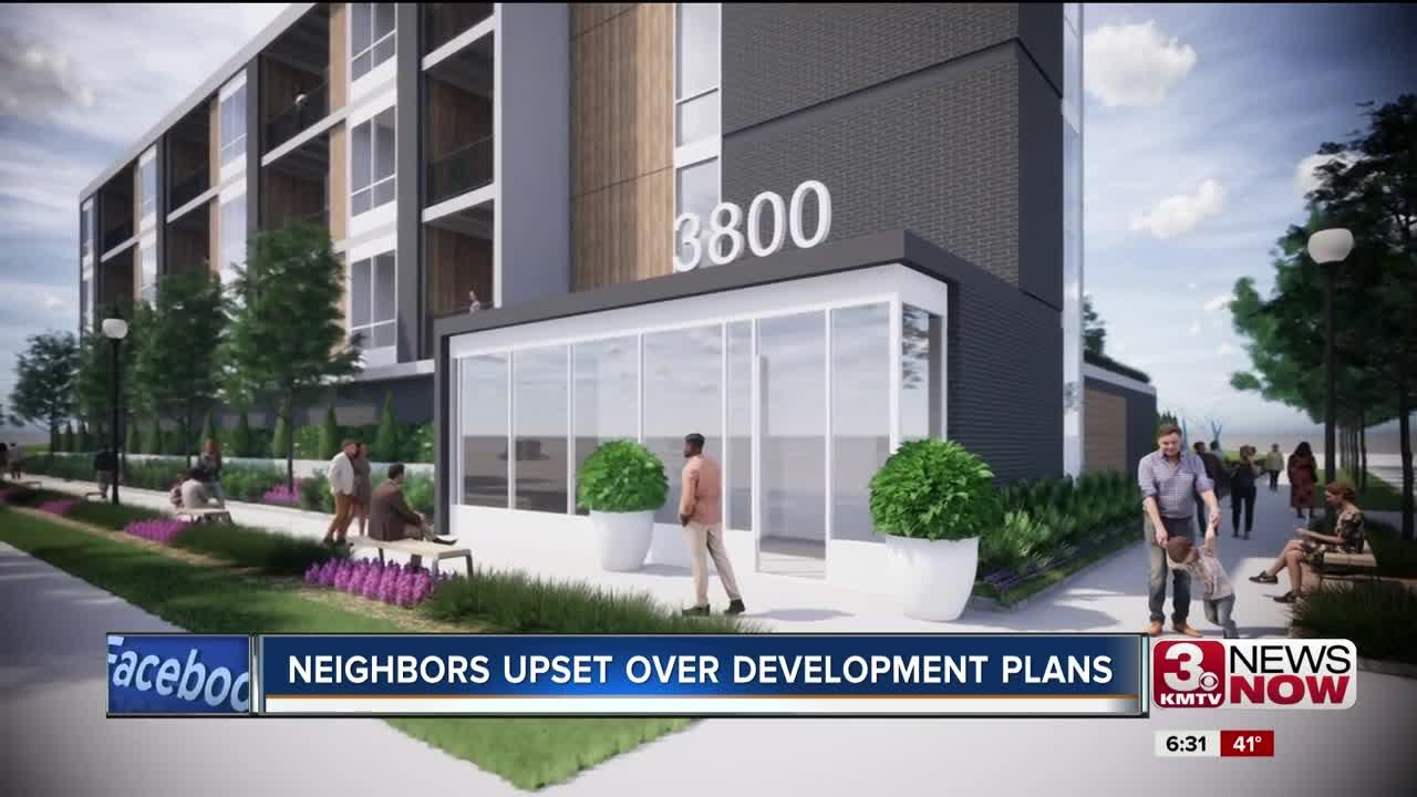 Neighbors upset over development plans