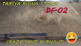 Tamiya Rising Storm DF-02 Crazy Sand Burnout! lol