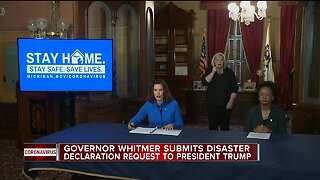 Whitmer asks Trump for major disaster declaration in Michigan over COVID-19