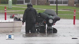 Flooding in east side of Green Bay