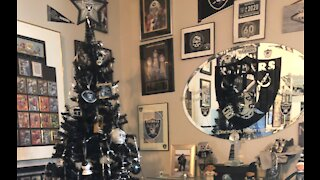 Let It Glow: Vegas Raiders themed tree for holidays