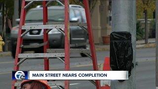 Williamsville Main Street nears completion