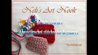 Learn How to crochet 4 basic crochet stitches for Beginners