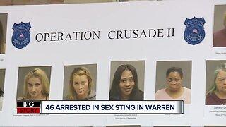 46 arrested in massive human trafficking, prostitution sting in Warren