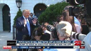 President Trump says he will ban Tik-Tok