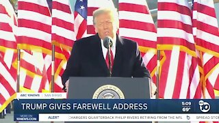 Trump bids farewell amid uncertain future in GOP