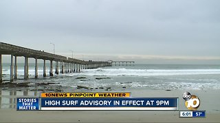 High Surf Advisory in effect until Monday morning