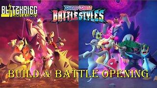 Pokemon Sword & Shield Battle Styles Social Distancing Bundle 4 Prerelease Kits Opening #1