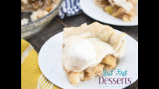Apple Pie with No-Churn Vanilla Ice Cream