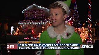 Evan's annual Christmas display