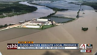High river water docks barges, impacts ag producers
