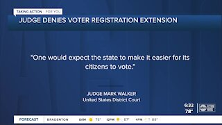 Judge will not extend voter registration deadline, says Florida failed its citizens