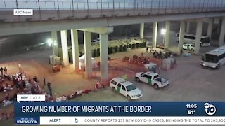 Growing number of migrants at the border