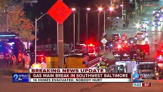 Residents evacuated after gas line rupture in Southwest Baltimore