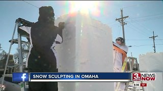Snow sculpting competition