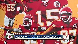 Chiefs murals sweep across KC