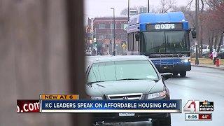 KC leaders speak on affordable housing plan