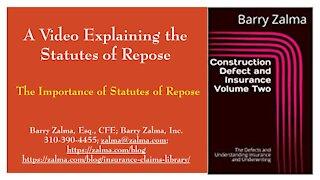 A Video Explaining the Statutes of Repose