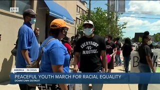 Peaceful youth march for racial equality