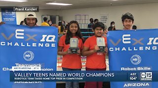 East Valley teens win robotics world championship