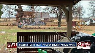 Severe Storms Tear Through Broken Arrow Home