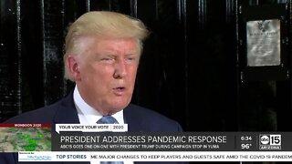 President Trump addresses pandemic response