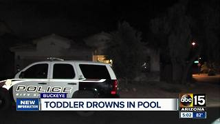 Buckeye toddler pulled from pool passes away