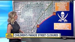 Children's Gasparilla Parade road closures