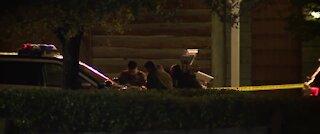Police investigate a shooting on Boulder Highway
