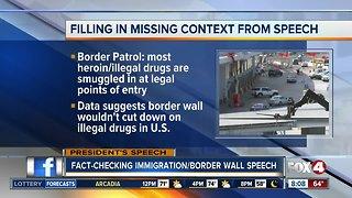 Fact-checking President Trump's border wall speech