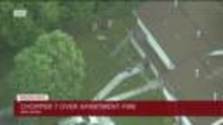 Chopper 7 over apartment fire