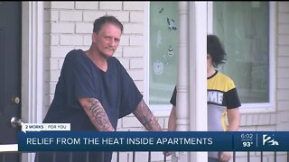 Relief from the heat inside your apartment