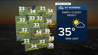 Saturday is sunny with highs in the 50s