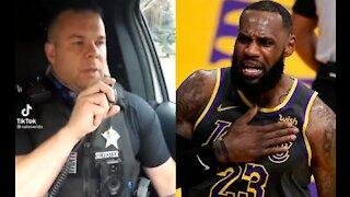 Police Officer Posts Hilarious TikTok Video Mocking LeBron James