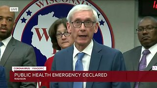 Full news conference: Gov. Tony Evers declares public health emergency due to coronavirus pandemic
