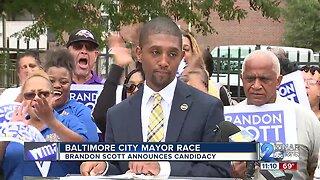 Baltimore City Council President Brandon Scott announces run for Mayor