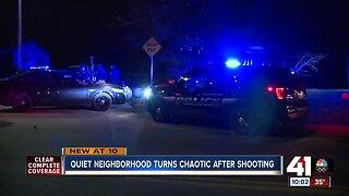 Quiet neighborhood turns chaotic after shooting
