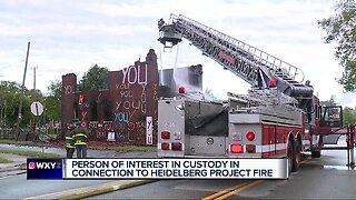 Crews battle fire at building in Detroit's Heidelberg Project