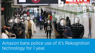Amazon bans police use of it's Rekognition technology for 1 year.